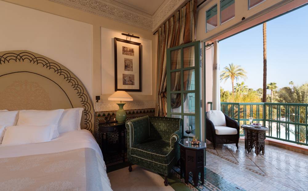Chambre Deluxe, Agdal, Room 256. La Mamounia Hotel, Marrakech, Morocco. Photo by Alan Keohane www.still-images.net for La Mamounia