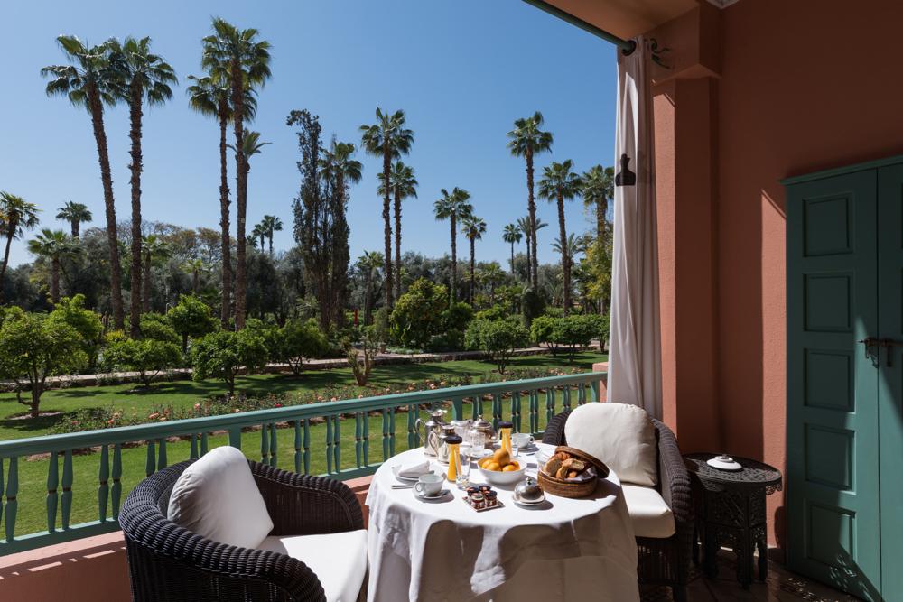 Breakfast, Chambre Deluxe, Room 048. La Mamounia Hotel, Marrakech, Morocco. Photo by Alan Keohane www.still-images.net for La Mamounia