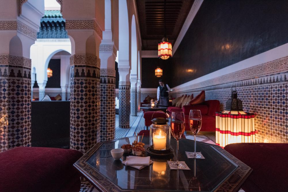 Moroccan Restaurant, La Mamounia Hotel, Marrakech, Morocco. Photo by Alan Keohane www.still-images.net for La Mamounia