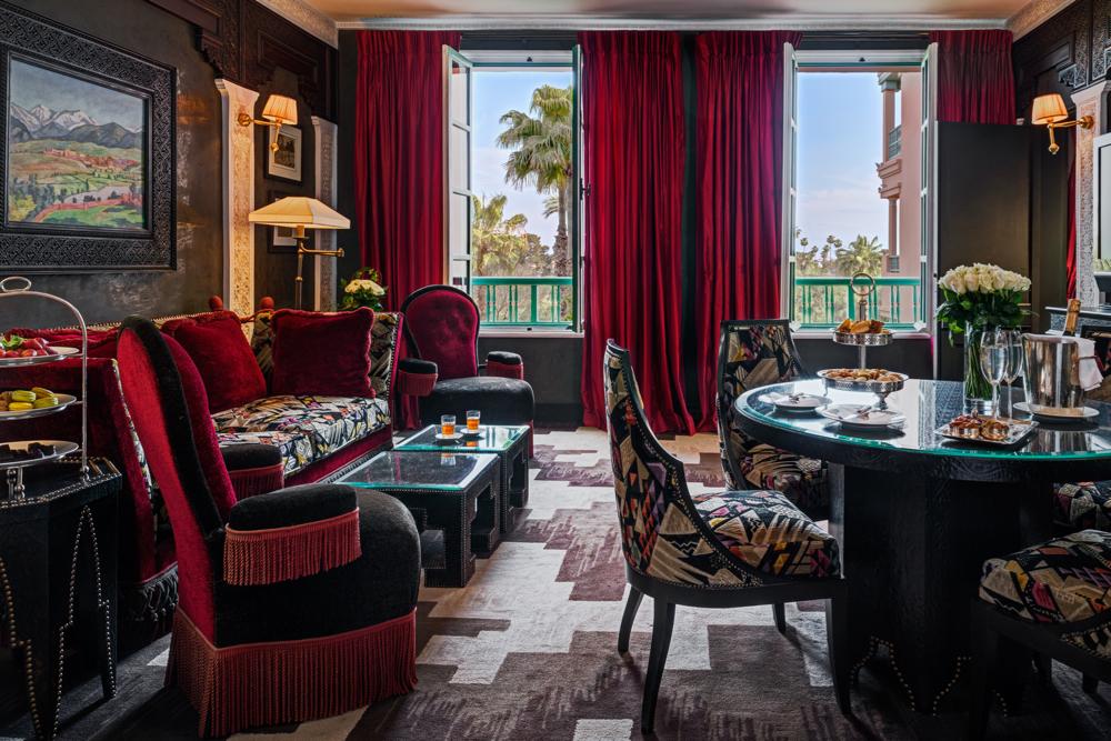 Salon, Suite Churchill Chambre 300, La Mamounia Hotel, Marrakech, Morocco. Photo by Alan Keohane www.still-images.net for La Mamounia