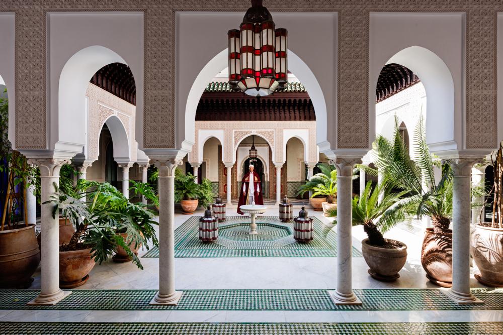 Patio Andalous, La Mamounia Hotel, Marrakech, Morocco. Photo by Alan Keohane www.still-images.net for La Mamounia