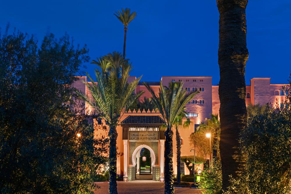 Entrance to the Hotel, La Mamounia Hotel, Marrakech, Morocco. Photo by Alan Keohane www.still-images.net for La Mamounia