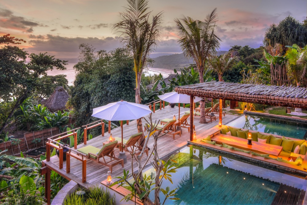 Puncak - Pool at sunset 1