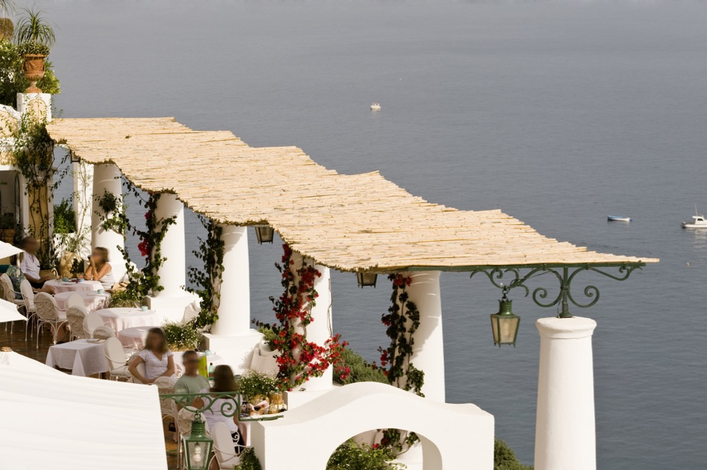 The terrace at Albergo Le Sirenuse - Positano