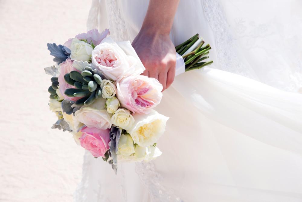 Flowers at an outdoor wedding venue/Wedding venue flowers