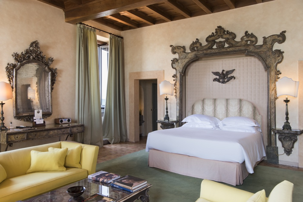 The Castello Senior Suite at La Posta Vecchia Hotel, Ladispoli